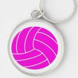 Voleibol rosado llaveros