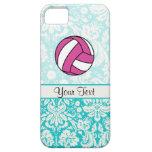Voleibol rosado; Modelo del damasco iPhone 5 Case-Mate Protectores