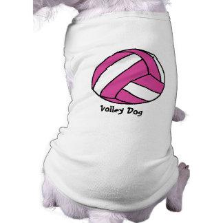 Voleibol rosado (personalizable) playera sin mangas para perro