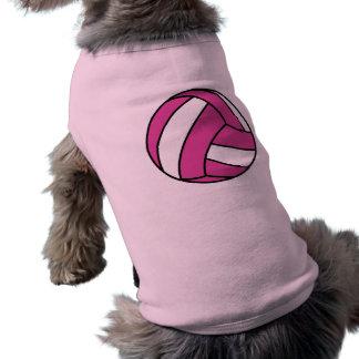 Voleibol rosado playera sin mangas para perro