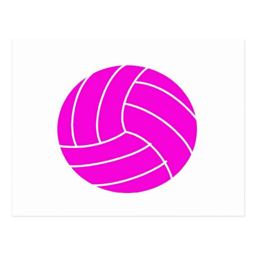 Voleibol rosado tarjeta postal