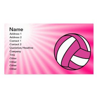 Voleibol rosado tarjetas de visita