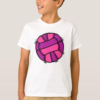 Voleibol rosado y púrpura playera
