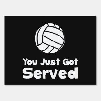 Voleibol servido cartel