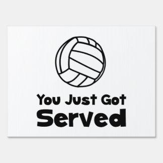 Voleibol servido señales