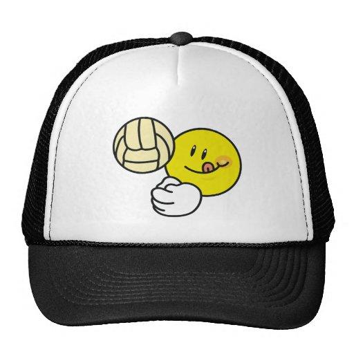 Voleibol sonriente gorra