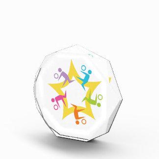 Voleibol Starburst del trabajo en equipo
