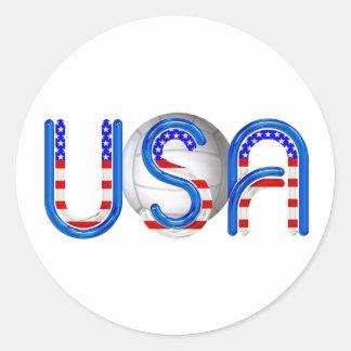 Voleibol SUPERIOR en los E.E.U.U. Pegatinas Redondas