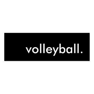 voleibol tarjetas de visita mini