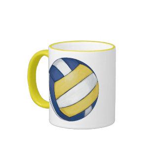Voleibol Taza De Dos Colores
