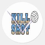 Voleibol: Tiro de la matanza Pegatina Redonda