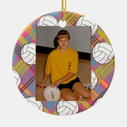 Voleibol todo el ornamento del personalizado del ornamento para arbol de navidad