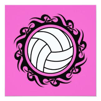 """voleibol tribal invitación 5.25"""" x 5.25"""""""