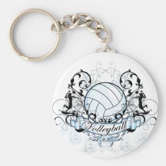 Voleibol tribal llavero redondo tipo pin