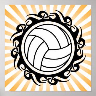 voleibol tribal póster