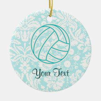 Voleibol; Trullo lindo Adorno Navideño Redondo De Cerámica