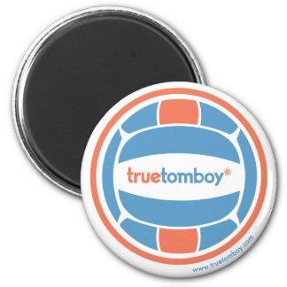 Voleibol verdadero de la marimacho imán redondo 5 cm