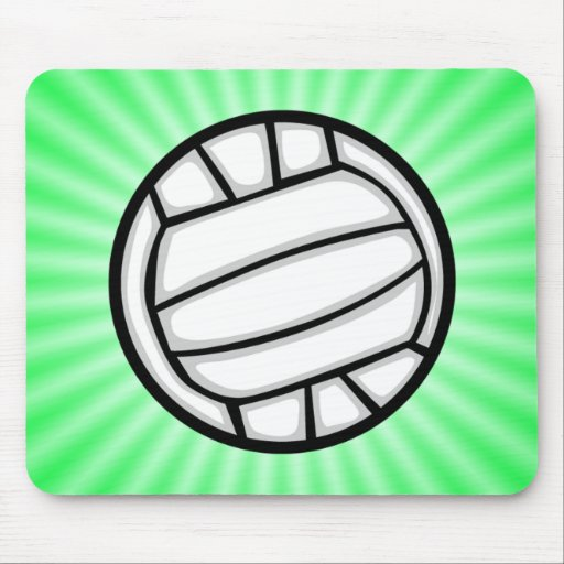Voleibol verde alfombrilla de raton