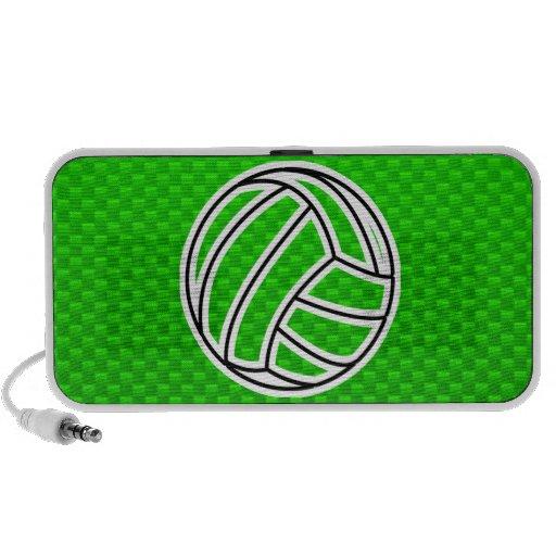 Voleibol verde altavoces