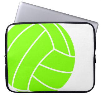 Voleibol verde chartreuse, de neón fundas computadoras