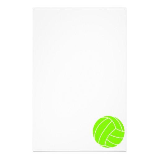 Voleibol verde chartreuse, de neón papeleria personalizada