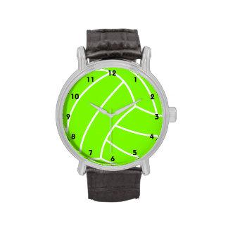 Voleibol verde chartreuse, de neón reloj de mano