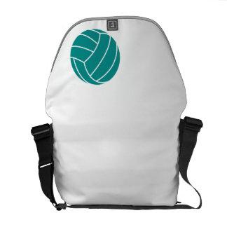 Voleibol verde del trullo bolsa de mensajeria
