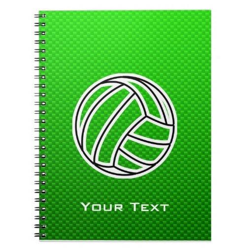 Voleibol verde libretas espirales