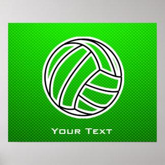 Voleibol verde póster