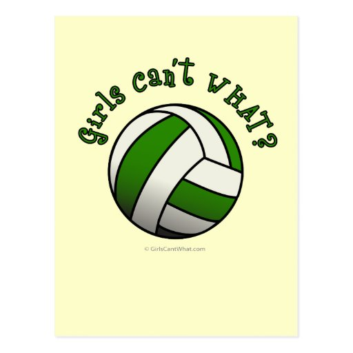 Voleibol verde tarjeta postal