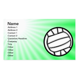 Voleibol verde tarjetas de visita