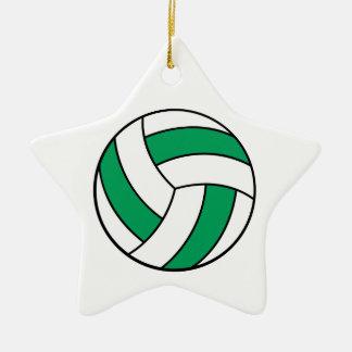 voleibol verde y blanco adorno de cerámica en forma de estrella