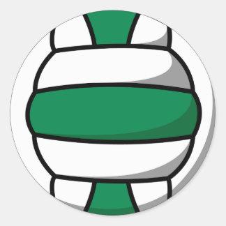 voleibol verde y blanco pegatina