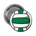 voleibol verde y blanco pin