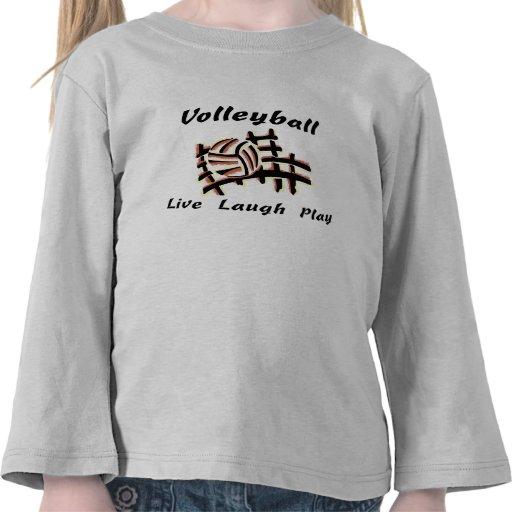 Voleibol: Vive el juego de la risa Camiseta