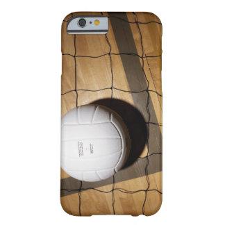 Voleibol y red en suelo de parqué de funda para iPhone 6 barely there