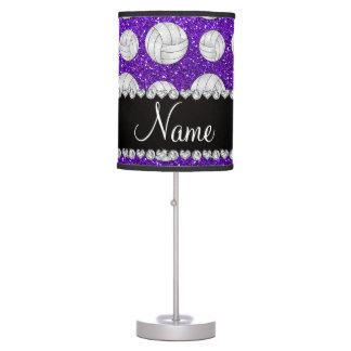 Voleiboles púrpuras del brillo del añil conocido lámpara de escritorio