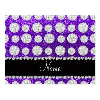 Voleiboles púrpuras del brillo del añil conocido tarjeta postal