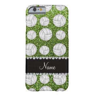 Voleiboles verdes claros conocidos de encargo del funda de iPhone 6 barely there