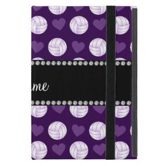 Voleiboles y corazones púrpuras conocidos de iPad mini coberturas