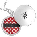 Voleiboles y corazones rojos conocidos de encargo collares personalizados