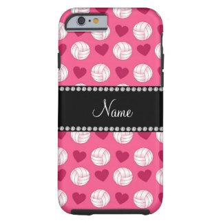 Voleiboles y corazones rosados conocidos de funda resistente iPhone 6