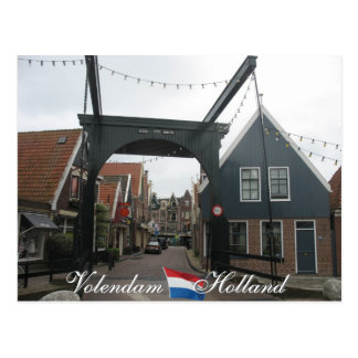 Volendam Drawbridge Holland Postcard