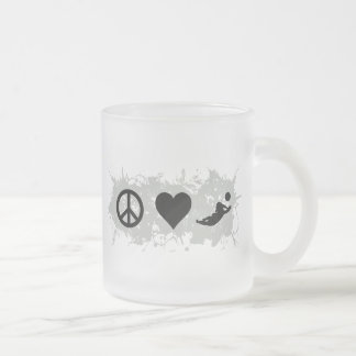 Voleyball 1 frosted glass coffee mug