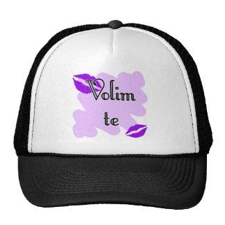 Volim te - Croatian - I Love You Mesh Hat