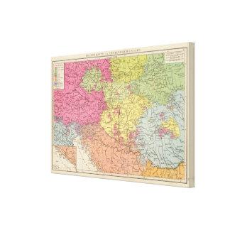 Volkerkarte v Oesterreich Ungarn, Austria Hungary Canvas Print