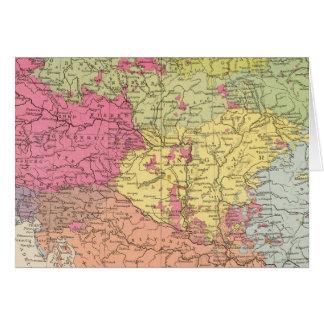 Volkerkarte v Oesterreich Ungarn, Austria Hungary Card