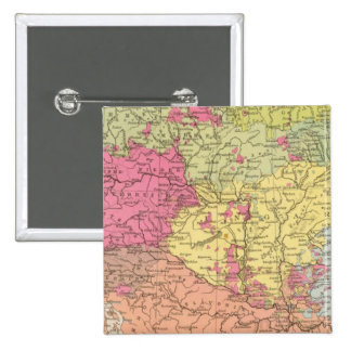 Volkerkarte v Oesterreich Ungarn, Austria Hungría Pin Cuadrada 5 Cm