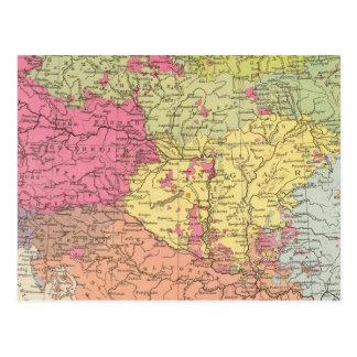 Volkerkarte v Oesterreich Ungarn, Austria Hungría Postal