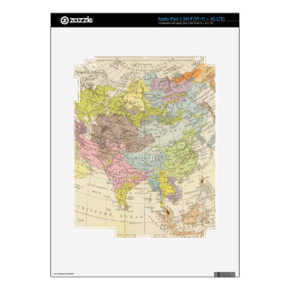 Volkerkarte von Asien - Map of Asia Decal For iPad 3